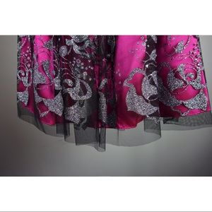 Adrianna Papell Dresses - Hailey Logan by Adrianna Papell Dress Pink Silver